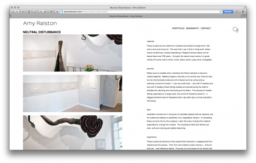 Heavy Bubble websites for artists new portfolio view. Works great for mobile