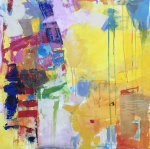 On the Verge, acrylic painting by abstract artist Sally K Eisenberg